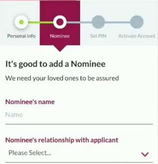 axis bank add nominee