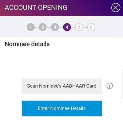 sbi account nominee details