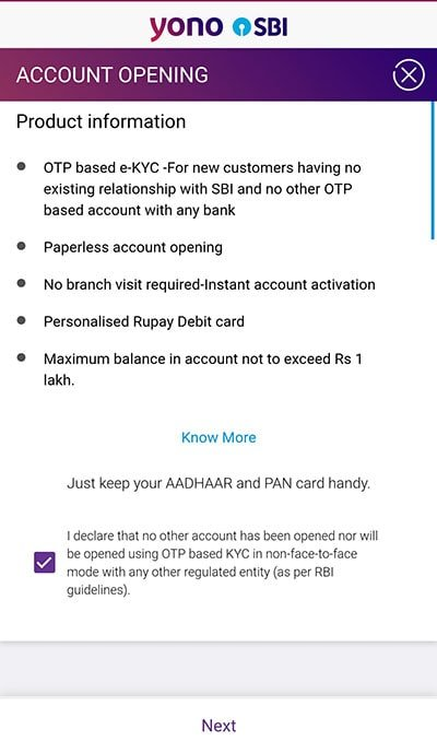 sbi zero balance account features